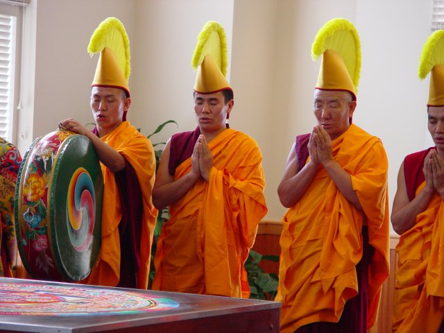drepung loseling tibetan monks reed