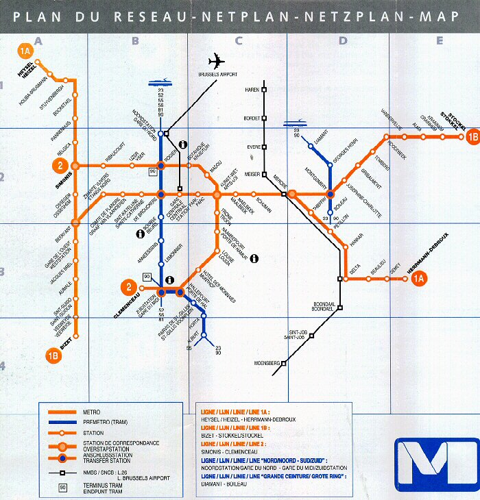 Subways Transport – Train Stations Brussels Map