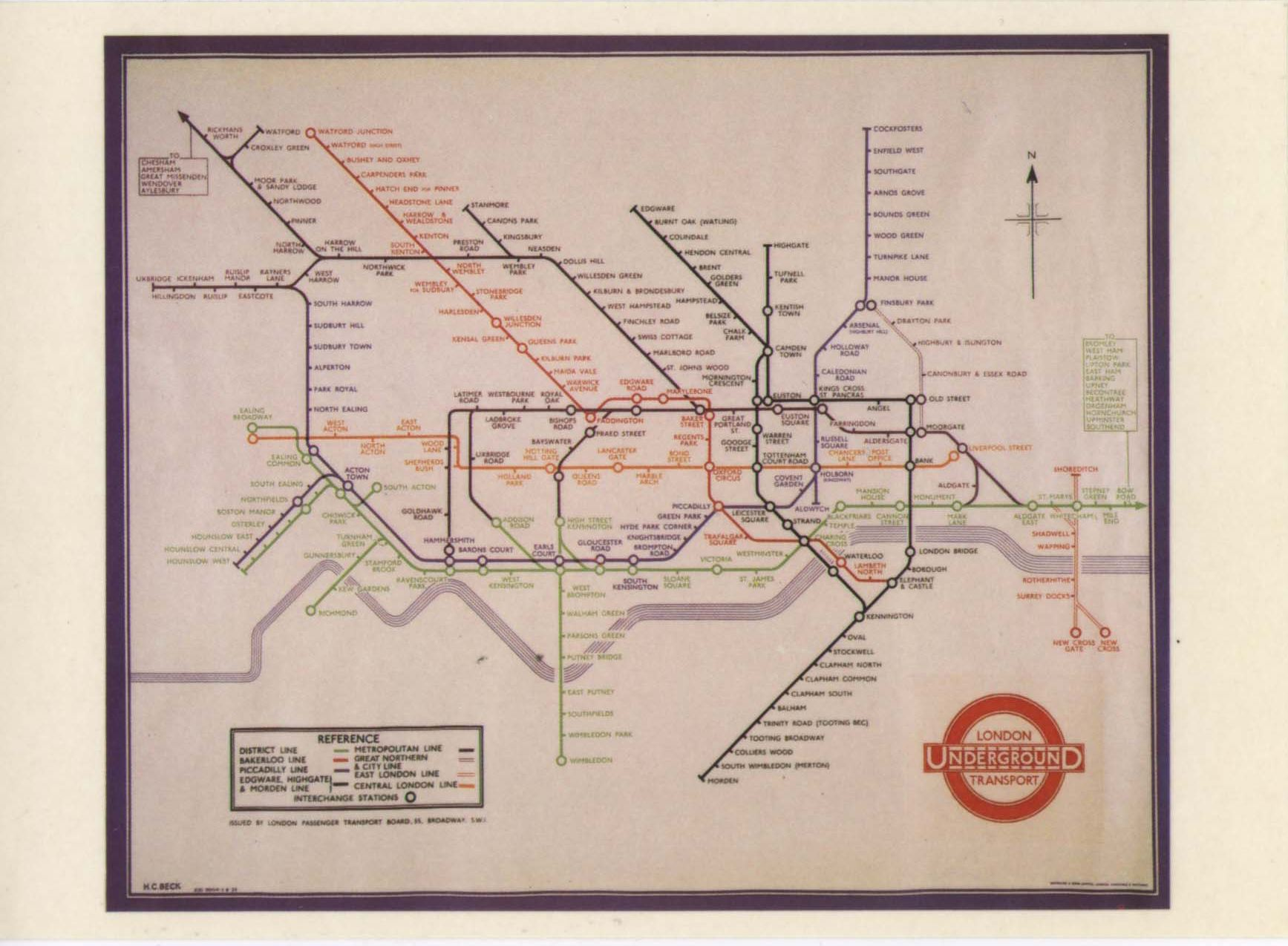 Subway Map Before 1933.Scans From Collections