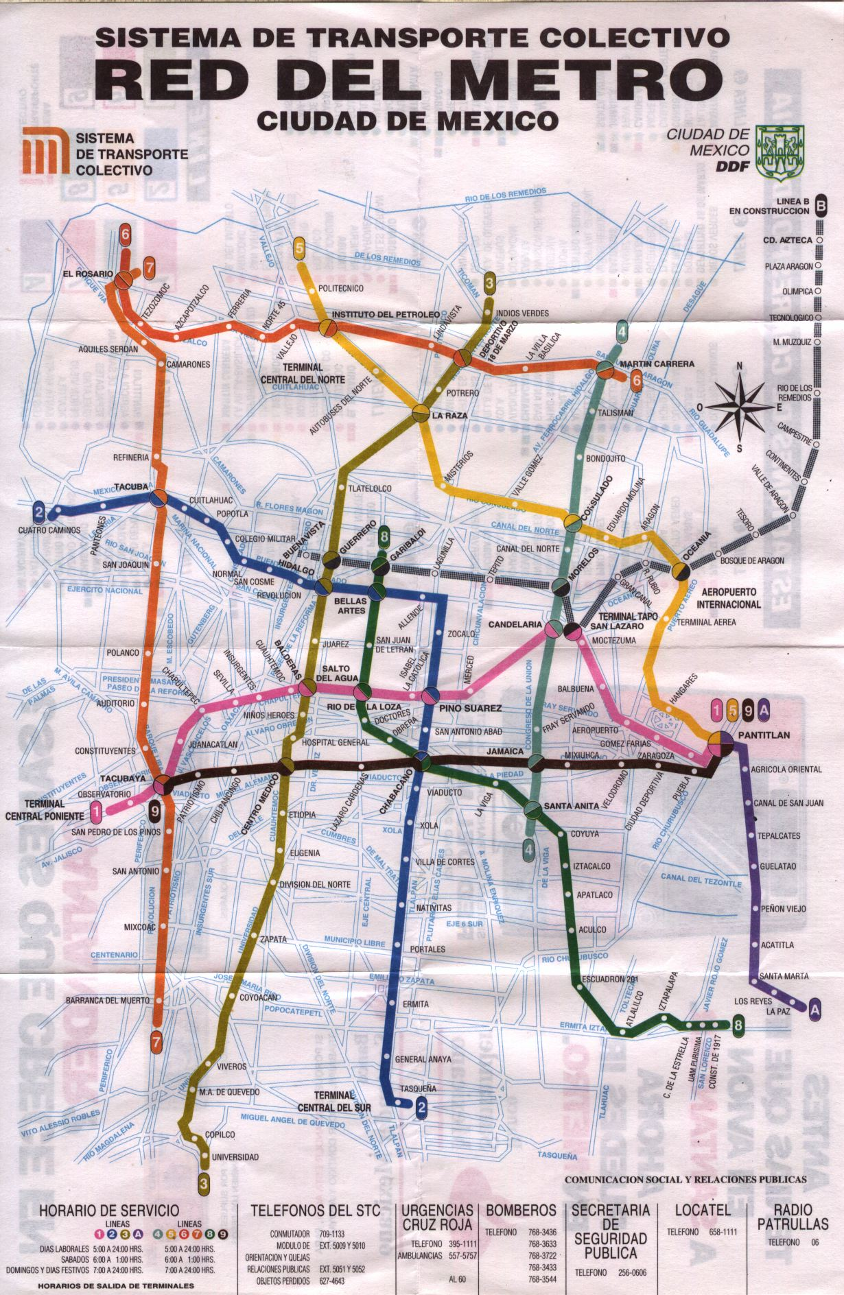 Mexco City Subway Map.Scans From Collections