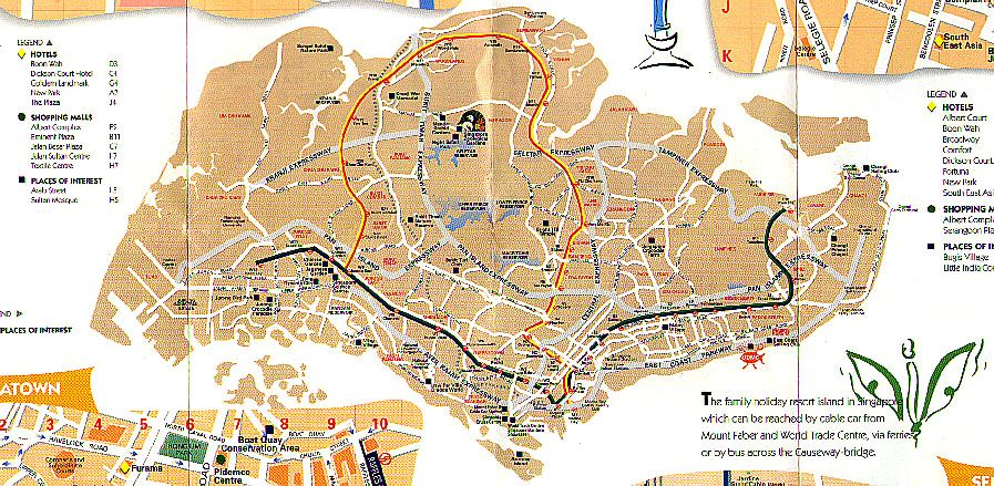 Scans from Collections – Tourist Map Of Singapore City