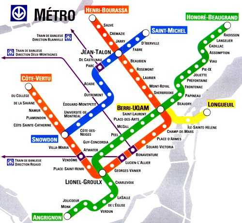 Montreal Street Map Montreal Metro Map