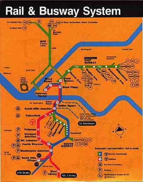 Pittaburgh Subway Map.More Cities Us Subway Maps Trains Mega Net